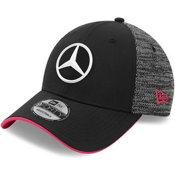Gorra curva negra ajustable 9FORTY Tonal eSports de Mercedes Formula 1 de New Era