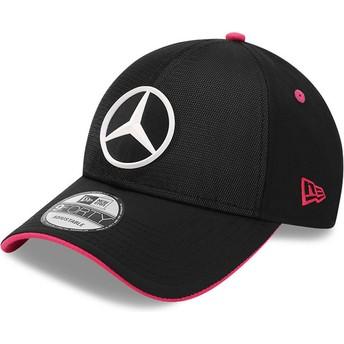 Gorra curva negra ajustable 9FORTY Draft eSports de Mercedes Formula 1 de New Era