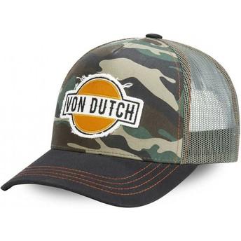 Gorra trucker camuflaje y negra CAM de Von Dutch