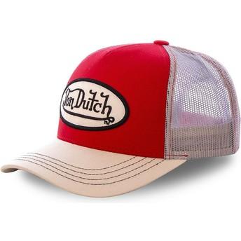 Gorra trucker roja y khaki COLRED de Von Dutch