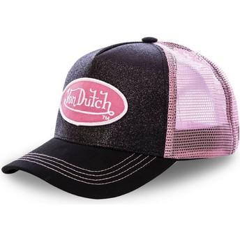 Gorra trucker negra y rosa FLAK BLA de Von Dutch