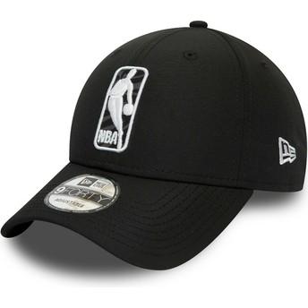 Gorra curva negra ajustable 9FORTY Logo Hook Jerry West NBA de New Era