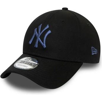 Gorra curva negra ajustable con logo azul 9FORTY Colour Essential de New York Yankees MLB de New Era
