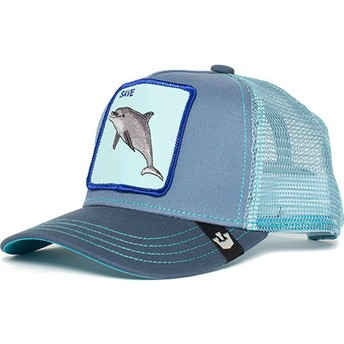 Gorra trucker azul para niño delfín Ocean Vibes de Goorin Bros.