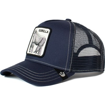 Gorra trucker azul marino gorila King of the Jungle de Goorin Bros.