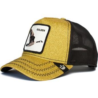 Gorra trucker dorada y negra ganso Golden Egg de Goorin Bros.
