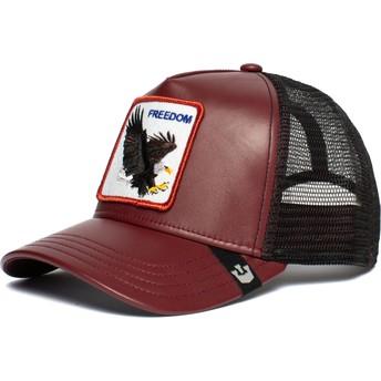 Gorra trucker roja y negra águila Big Bird de Goorin Bros.