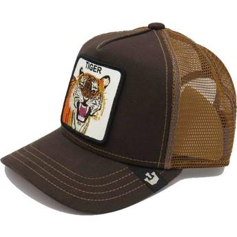 Gorra trucker marrón para niño tigre Little Tiger de Goorin Bros.