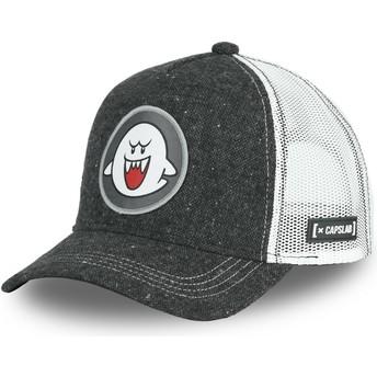 Gorra trucker negra Fantasma Boo POW2 Super Mario Bros. de Capslab