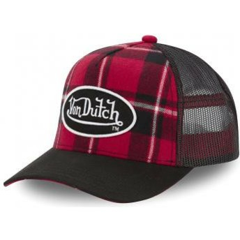 Gorra trucker roja a cuadros CAR A1 de Von Dutch