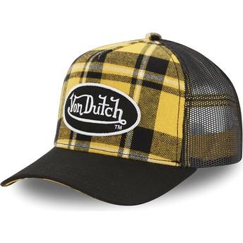 Gorra trucker amarilla a cuadros CAR A2 de Von Dutch