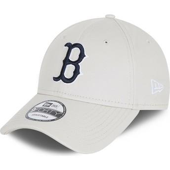 Gorra curva blanca ajustable 9FORTY League Essential de Boston Red Sox MLB de New Era