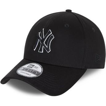 Gorra curva negra snapback 9FORTY Black Base de New York Yankees MLB de New Era
