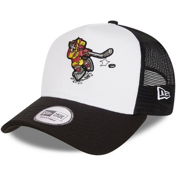 Gorra trucker blanca y negra Character Sports A Frame Goofy Ice Hockey Disney de New Era