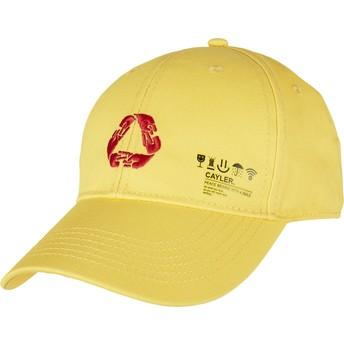 Gorra curva amarilla ajustable Iconic Peace de Cayler & Sons