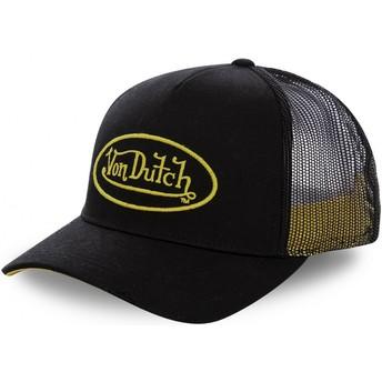 Gorra trucker negra con logo amarillo NEO YEL de Von Dutch