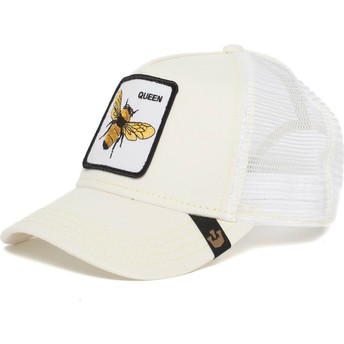 Gorra trucker blanca abeja Queen Bee de Goorin Bros.