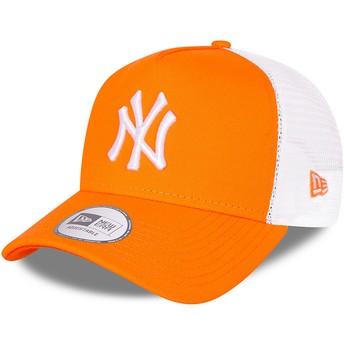 Gorra trucker naranja A Frame Tonal Mesh de New York Yankees MLB de New Era