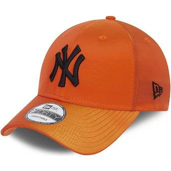 Gorra curva naranja ajustable 9FORTY Hypertone de New York Yankees MLB de New Era