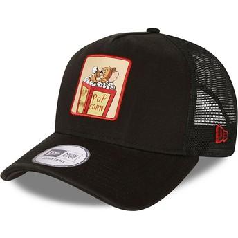 Gorra trucker negra A Frame Tom y Jerry Looney Tunes de New Era