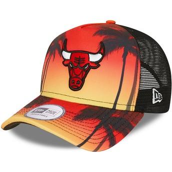 Gorra trucker roja A Frame Summer City de Chicago Bulls NBA de New Era
