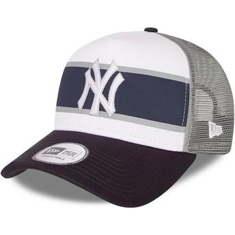Gorra trucker blanca y azul marino A Frame Retro de New York Yankees MLB de New Era