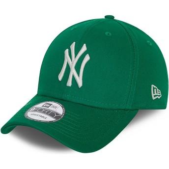 Gorra curva verde ajustable 9FORTY League Essential de New York Yankees MLB de New Era