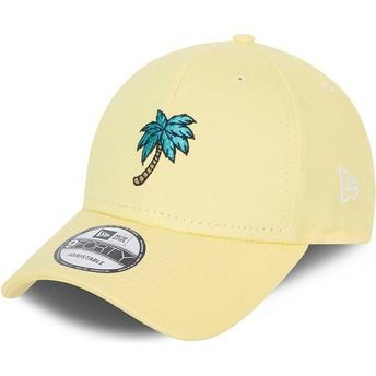 Gorra curva amarilla ajustable 9FORTY Sports Palm Tree de New Era