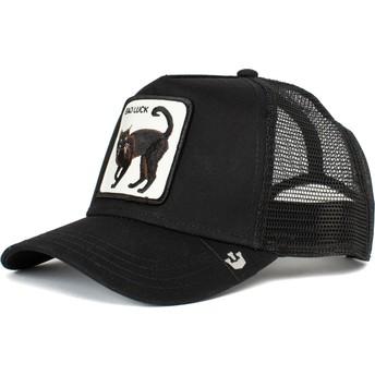 Gorra trucker negra gato negro Bad Luck The Farm de Goorin Bros.
