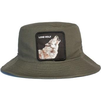 Bucket verde lobo Lone Wolf Howl You Doing The Farm de Goorin Bros.