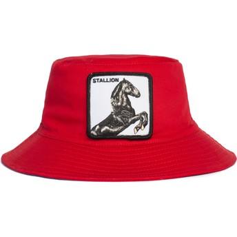 Bucket rojo caballo Stallion I'm A Little Hoarse The Farm de Goorin Bros.