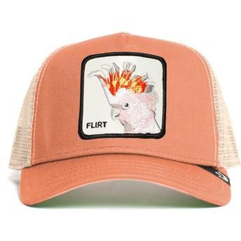 Gorra trucker rosa pájaro cacatúa Big Flirt The Farm de Goorin Bros.