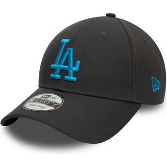Gorra curva gris snapback con logo azul 9FORTY REPREVE Pop Logo de Los Angeles Dodgers MLB de New Era