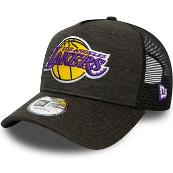 Gorra trucker negra Shadow Tech A Frame de Los Angeles Lakers MLB de New Era