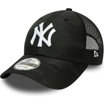 Gorra curva camuflaje negro ajustable 9FORTY Home Field de New York Yankees MLB de New Era