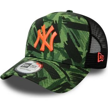 Gorra trucker camuflaje con logo naranja Seasonal A Frame de New York Yankees MLB de New Era