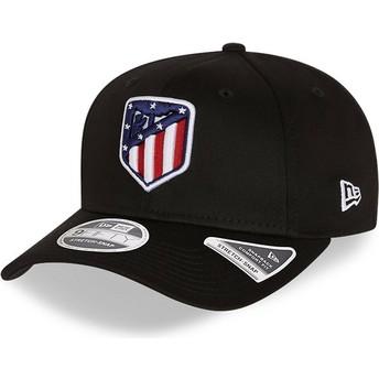 Gorra curva negra snapback 9FIFTY Essential Stretch Fit de Atlético de Madrid LFP de New Era