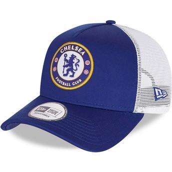 Gorra trucker azul Cotton A Frame de Chelsea Football Club de New Era