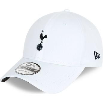 Gorra curva blanca ajustable 9FORTY Rubber Patch de Tottenham Hotspur Football Club de New Era