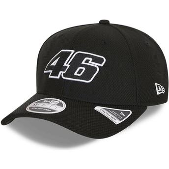 Gorra curva negra snapback 9FIFTY Diamond Era Stretch Fit de Valentino Rossi VR46 de New Era