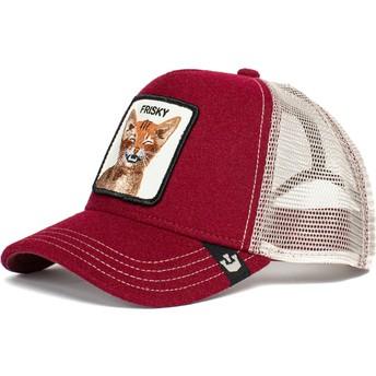 Gorra trucker roja gato Frisky Whisky The Farm de Goorin Bros.