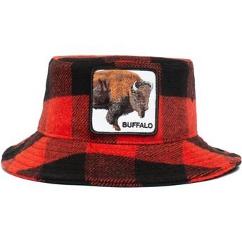 Bucket rojo y negro búfalo Buffalo I'm A Little Hoarse The Farm de Goorin Bros.