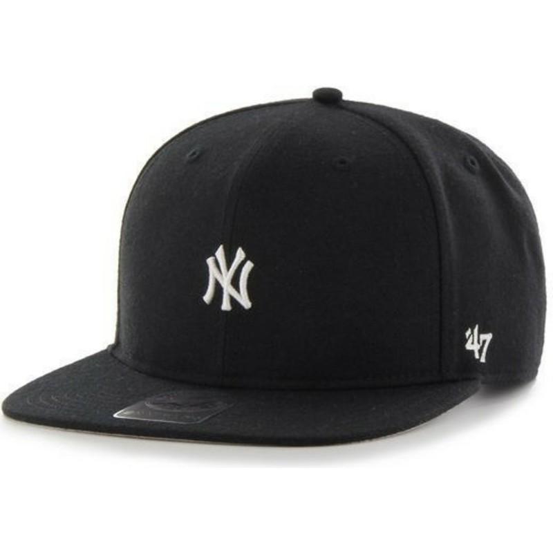 564e556e8459b Gorra plana negra snapback de New York Yankees MLB Centerfield de 47 ...