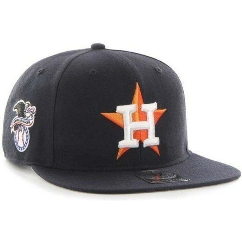 0c51ce9ae0d28 Gorra plana negra snapback de Houston Astros MLB Sure Shot de 47 ...