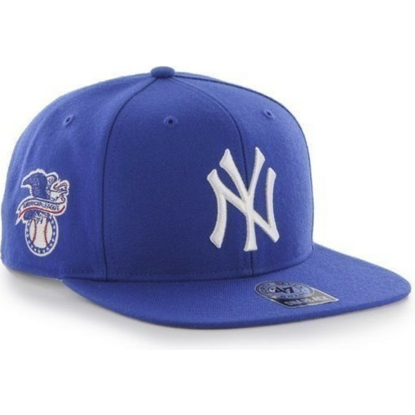 gorra-plana-azul-snapback-de-new-york-yankees-mlb-sure-shot-de-47-brand