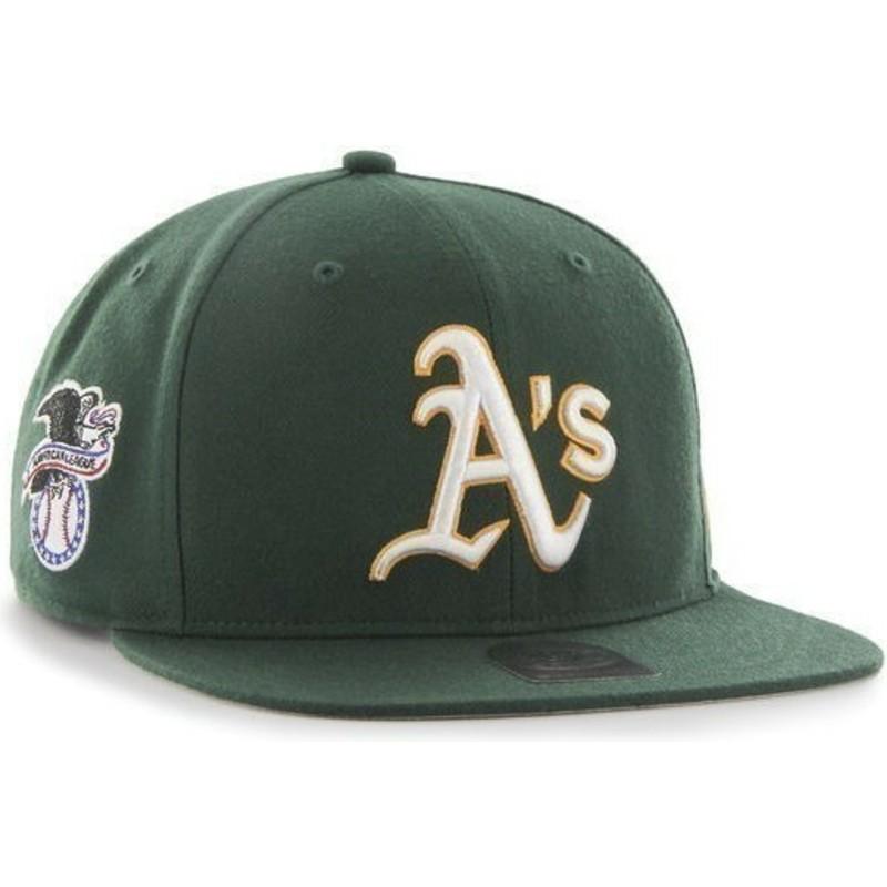 Gorra plana verde snapback de Oakland Athletics MLB Sure Shot de 47 ... fcc117f130c