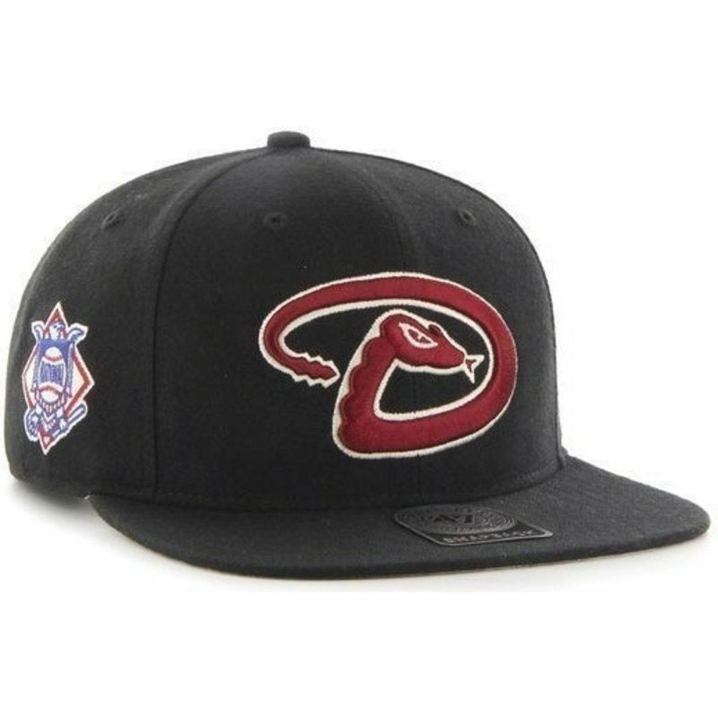 gorra-plana-negra-snapback-de-arizona-diamondbacks-mlb-sure-shot-de-47-brand