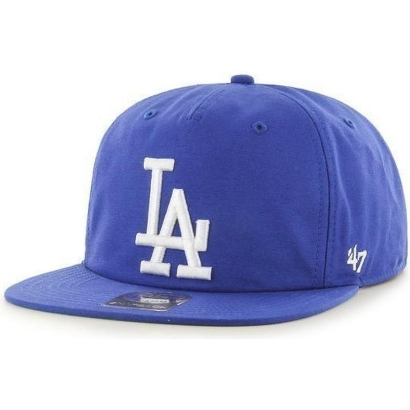 d89d1826514f Gorra plana azul snapback de Los Angeles Dodgers MLB de 47 Brand