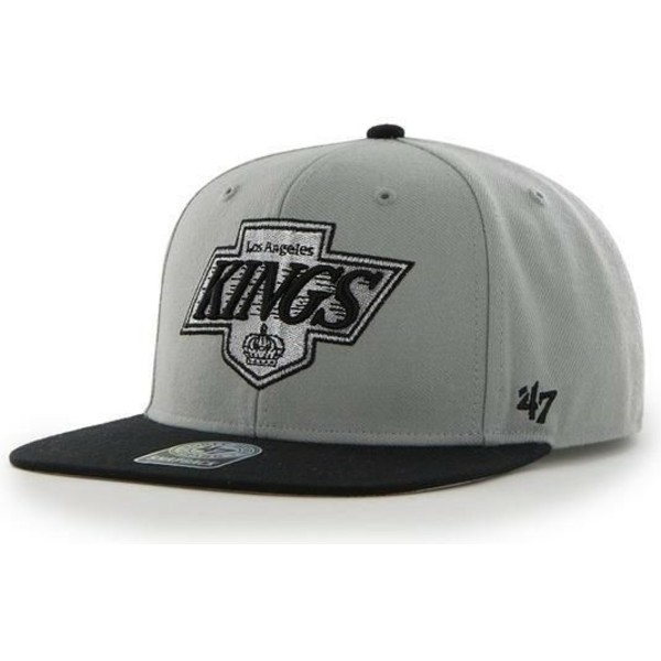 gorra-plana-gris-snapback-de-los-angeles-kings-nhl-sure-shot-de-47-brand