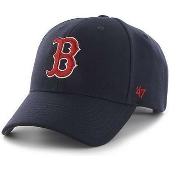 Gorra curva azul marino con logo rojo de Boston Red Sox MLB Clean Up de 47 Brand